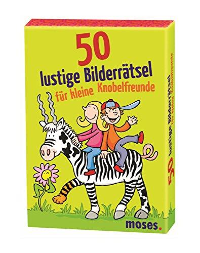 moses. MOS21077 50 lustige Bilderrätsel für Knobelfreunde | Kinderbeschäftigung | Kartenset