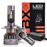 Briteye Lampadine H4 LED 6000K Bianca Per 12-24V DC Fari LED Auto Moto Luce Abbagliante Anabbagliante (2 Lampadina)