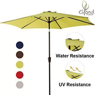 Grand patio 9 FT Aluminum Patio Umbrella, UV Protected Outdoor Umbrella with Push Button Tilt and Crank, Lime Green