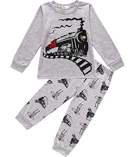 Boys Pajamas Train 100% Cotton...