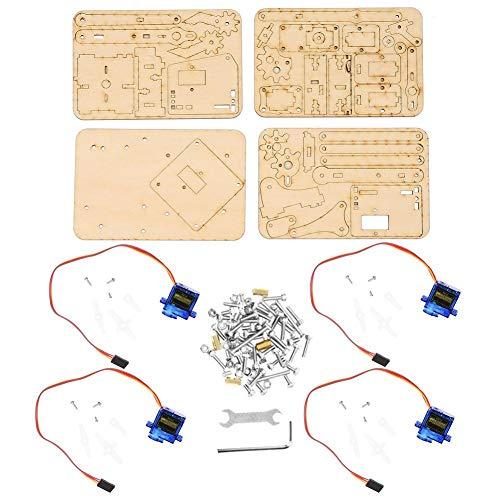 Kit de brazo robot, brazo mecánico robótico de madera 4 DOF sg90 Servo para Arduino Raspberry Pi SNAM1500