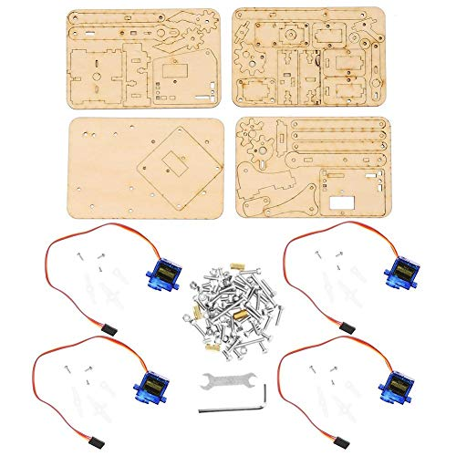 Raspberry Pi SNAM1500 4 DOF Wood Robotic Arm Sg90 Servo para Arduino DIY Robot Arm
