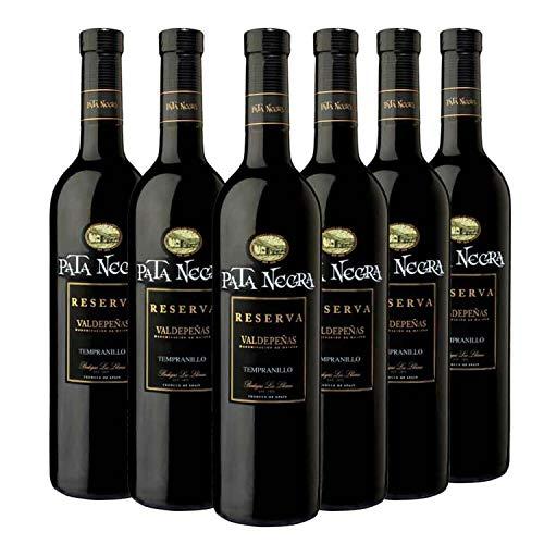 Pata Negra Reserva Vino Tinto D.O Valdepeñas - Caja de 6 Botellas...