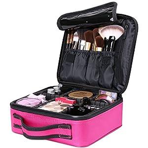 Luxspire Portátil Bolsa Cosmetica, Bolsa de neceser con gran capacidad y diseño divisible, Bolso de organizador maquillaje en viaje, Almacenamiento de Maquillaje Cosmético, Neceseres de viaje - Morado: Amazon.es: Belleza