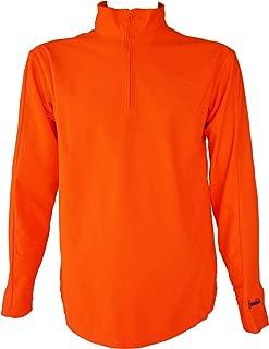 Gamehide Blaze Orange Hunting 1/4 Zip Deer Hunting, Elk Hunting, Bird Hunting, Dove Hunting, Quick Drying, Hush Hide Fabric (Large)