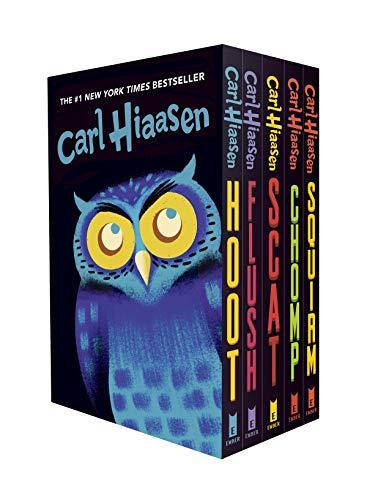 Hiaasen 5-Book Trade Paperback Box Set: Hoot; Flush; Scat; Chomp; Squirm