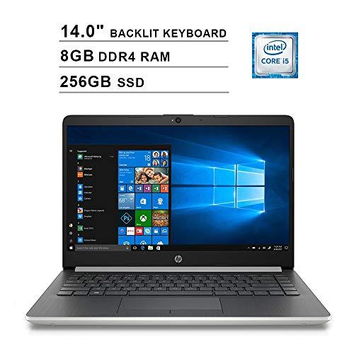 2020 Newest HP Pavilion 14 Inch Laptop (Intel Quad-Core i5-8265U up to 3.9GHz, 8GB DDR4 RAM, 256GB SSD, Intel UHD 620, Backlit KB, WiFi, Bluetooth, HDMI, Webcam, Windows 10) (Silver)