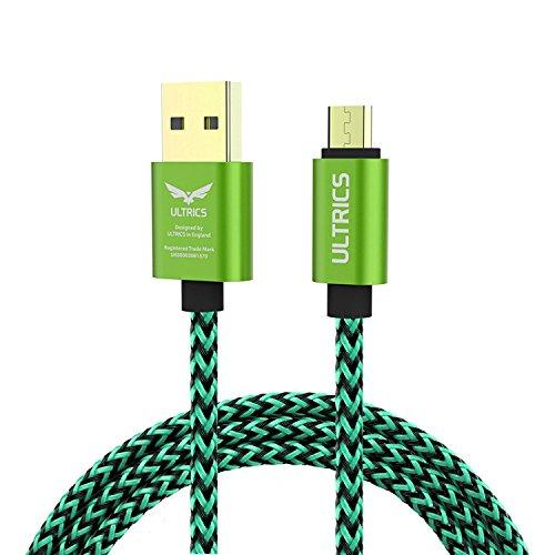ULTRICS Micro USB Kabel 1M, Nylon Geflochten Ladekabel High Speed 480Mbps Datenkabel, Schnellladekabel Kompatibel mit Samsung Galaxy S6/S7 Edge, Nokia LG, PS4 Xbox, Tablet und andere Android