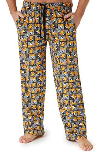 Looney Tunes Pantalon Pijama Hombre, Pijama Hombre Invierno 100% Algodon con el Personaje Pato Lucas, Regalos Originales para Hombre Adolescente Talla S-3XL (Gris, M)
