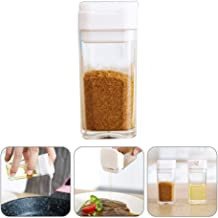 Pepper Or Salt Shaker with Closing Lid, Hamkaw Seasoning Shakers Bottle with with Adjustable Pour Holes & Printed Label, Sugar Shaker Cooking Dispenser for Kitchen