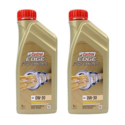 2X 1 L Liter Castrol Edge Professional Titanium FST™ A3 0W-30 Motoröl