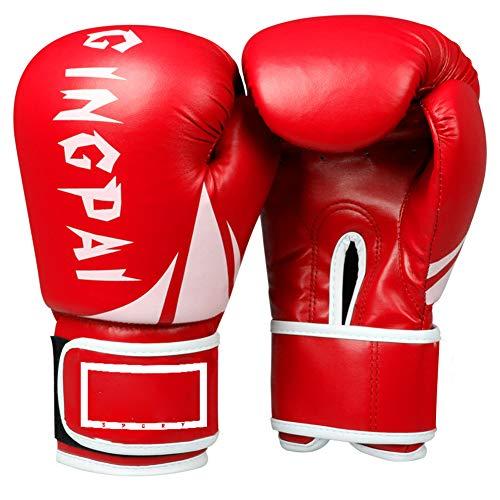 Guantes de Boxeo12oz,Guantes de Boxeo para Hombres Mujeres Cuero Más Acolchado Saco de Boxeo para Kickboxing, Sparring, Muay Thai y Heavy Bag,1,12oz