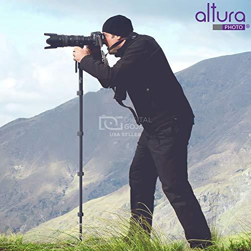 Altura Photo 62-Inch Camera Monopod - Ultra Portable, Heavy Duty Design for Canon, Nikon, Sony Mirrorless & DSLR Cameras