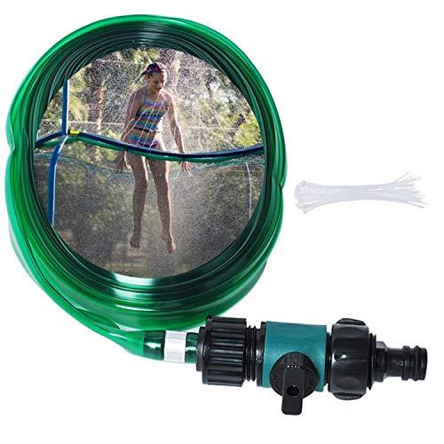 Poweka Aspersor Trampolín Pipe de 15m con 30 Correa Fijación, Trampolín Aspersor Jardín al Aire Libre Juegos Pulverizador de Juguete Acuático Accesorios