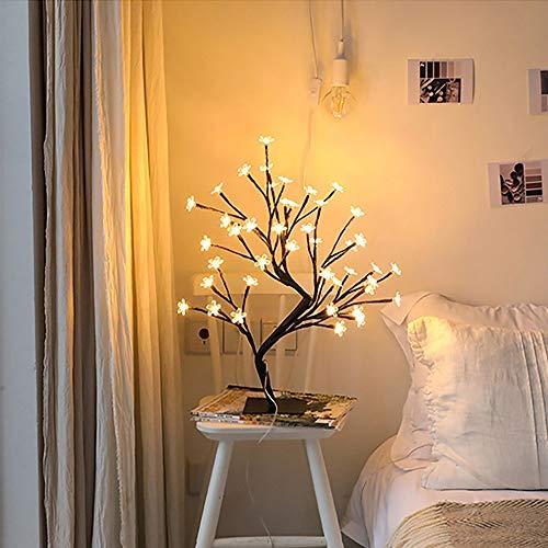 GLYYR Lámpara de Escritorio Lámpara LED Bauhinia Lámpara de Mesa Lámpara de Noche Luz de Noche Luz de Noche Dormitorio Decoración de Navidad Regalo de cumpleaños 12 * 40 cm (Color : A)