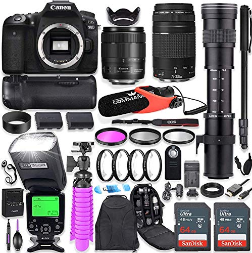Canon EOS 90D DSLR Camera Kit with Canon ...
