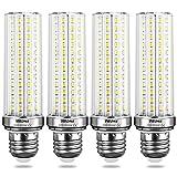 Wedna E27 Bombillas LED, 20W 6000K Blanco Frío, Bombillas Incandescentes Equivalente de 150W, 2000Lm, Bombillas de Tornillo Edison E27, No regulable, 4 unidades