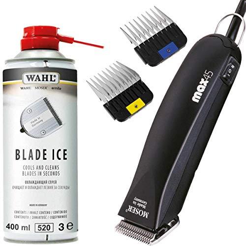 Moser Max 45 tosatrice e Blade Ice Spray