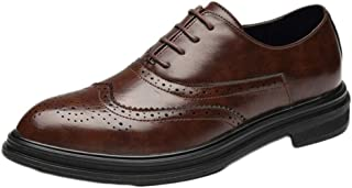 [BRBRBRBRHYUTGD] ビジネスシューズ メンズ靴 本革 通気快適 長持ち 抗菌 足痛くない 就活 通勤 普段用 紳士靴 オールシーズン?ブラウン 26.0cm