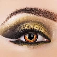 Lentes de contacto de colores de Eye Effects de color crepúsculo, naranja, hombre lobo1 par de lentillas de Halloween con depósito.