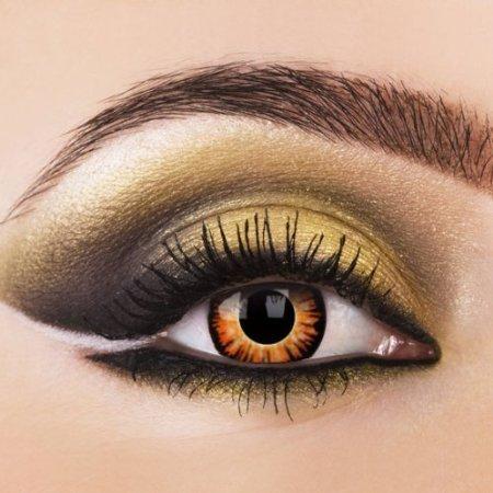 Farbige Kontaktlinsen TWILIGHT ORANGE WERWOLF Crazy Kontaktlinsen farbig Fasching, Crazy Funlinsen. Halloween 1 Paar mit gratis Linsenbehälter