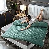 zyl Tatami futón Plegable Grueso Tatami japonés colchón de futón Transpirable colchón portátil de Memoria Doble Individual Varios tamaños tapete para Dormir Antideslizante Verde 200x200cm