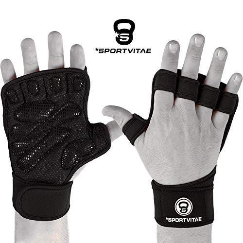 Sportvitae Calleras Crossfit Weightlifting Gloves Guantes de Gimnasio Ventilados Agarres de Mano Protector de Manos Hand Grips Gimnasio Ejercicio Entrenamiento Fitness. para Hombre y Mujer