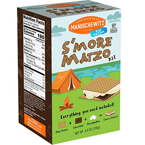 Manischewitz S'moreables Matzo S'mores Kit Great DIY Kid's Activity. Kosher for Passover 4.8 Oz Box, 1 Count
