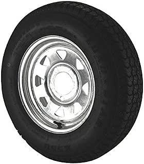 ST175/80D13 Loadstar Trailer Tire LRC on 5 Bolt Galvanized Spoke Wheel