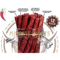 Mission Meats Keto Sugar Free Grass-Fed Beef Snacks Sticks Non-GMO...