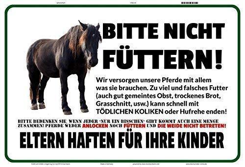 Pferd bitte nicht füttern ! Blechschild Metallschild Schild gewölbt Metal Tin Sign 20 x 30 cm