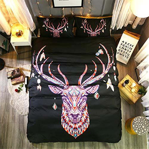 Goldrui Queen Bedding Cover Set - Luxury Microfiber Comforter Quilt Cover - Best Organic Modern Style for Kids and Women(3 pcs, Flat Sheet+ 2 Pillowcase)