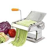 CHSEEO Máquina para Pasta Fresca Prensador para Pasta Acero Inoxidable Cortador de Pasta Máquina de Rodillos Noodle Maker Fabrica de Fideos Frescos de Masa Tagliatelle de Lasaña de Espaguetis #1