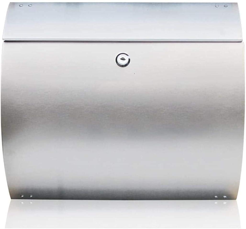 女王作物ビールステンレス鋼のレターボックス屋外レターボックスウォールは、メールボックス37.5x32.5x10.5cmハンギング