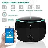 MYGIRLE Smart Wi-Fi Diffusore di Oli Essenziali per aromaterapia, umidificatori con Timer a Nebbia Fredda 300ML Umidificatori con 7 Cambi di Luce Colorati, Controllo Automatico di Alexa e App