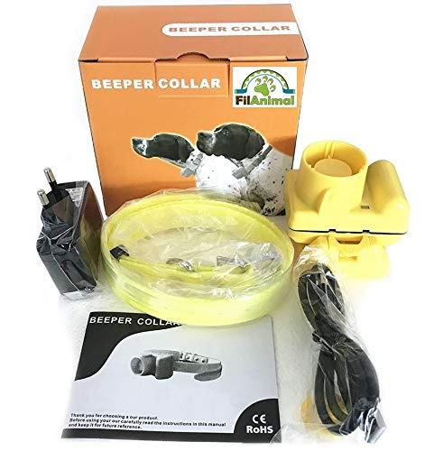 FilAnimal Minibeep Recargable Amarillo. Collar de Entrenamiento Beeper para Becada Sorda acústico, sonic-40. Equipo Profesional Caza.Regulable sin Mando. Nº1