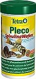 Tetra Pleco Algae Wafers (Hauptfutter mit Spirulina-Algen für algenweidende Bodenfische), 250 ml Dose
