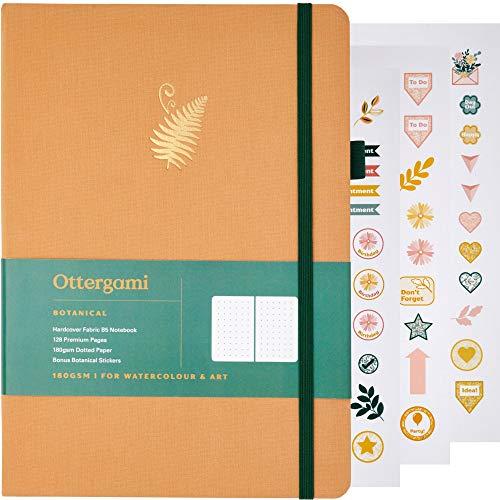 Taccuino B5 a pois | Diario a pois | carta da 180 g/m² | The Botanical by Ottergami (felce marrone)