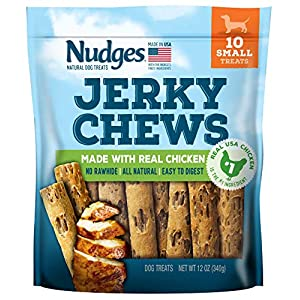 Nudges Natural Dog Treats Jerky Chews Made with Real Chicken, 12 oz