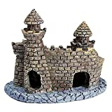LEPSJGC Polyresin Castle Tower Adorno De Acuario Accesorios De Decoración De Pecera Mini Castillo