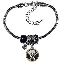 NHL womens Euro Bead Bracelet