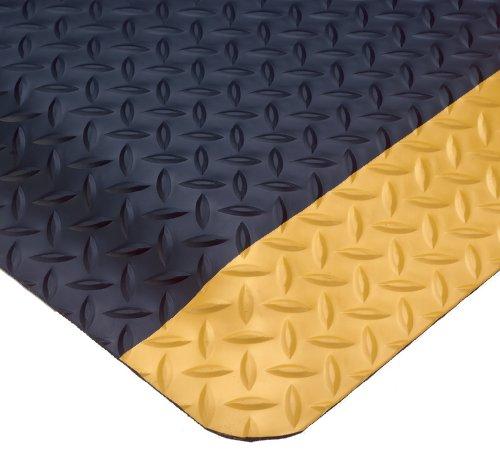 Wearwell 414.1516x3x5BYL Diamond-Plate SpongeCote Ultrasoft Mat, 3' Width x 5' Length x 15/16