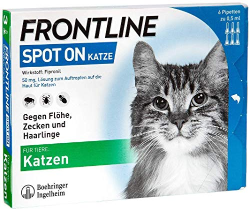 Frontline Spot-on gegen Zecken und Flöhe bei Katze,6St