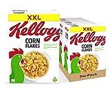 Kellogg's Corn Flakes Cerealien | 3er Vorratspack | 3 x 1kg -