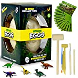 KABEATY Dinosaur Eggs for Kids Excavation Presents ,Jumbo Dino Eggs Dig Kit with 12 Different Dinosaur Toys --Kids Toys for Archaeology and Paleontology Toy, Best Crafts Toys for Boys and Girls