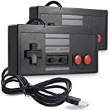 miadore USB クラシックコントローラー NES Gaming用 PC USB NES コントローラー レトロゲームパッド ジョイスティック Raspberry Pi コントローラー Windows PC Mac Linux RetroPie NES エミュレータ用 2個パック