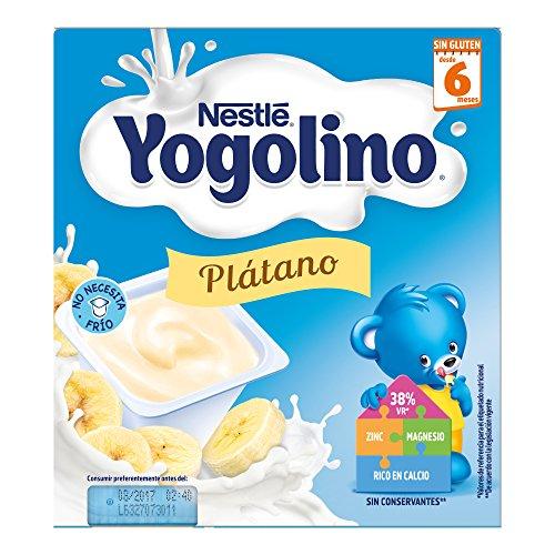 Nestlé Yogolino Plátano a Partir de 6 Meses, 4 x