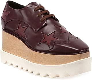 Women's Indium Elyse Star Sneaker Shoes Burgundy