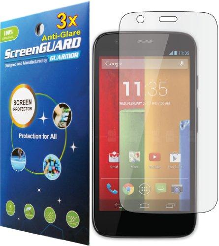 Pellicola proteggi display LCD per Motorola Moto G XT1032 XT1033 XT1034 XT1035, obaco, antiriflesso, 3pz