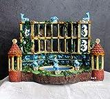 Yowinlo Estatuas Figuritas Decoración Acuario Acuario Paisajismo Atlantis Civilización Antiguo Edificio Resina Decoración Decoración